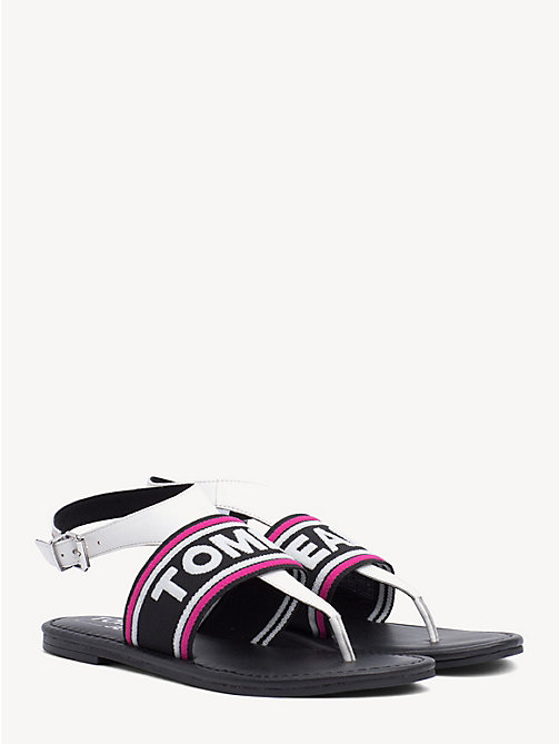 TOMMY JEANS Webbing Logo Flat Sandals - WHITE - TOMMY JEANS Shoes & Accessories - main image