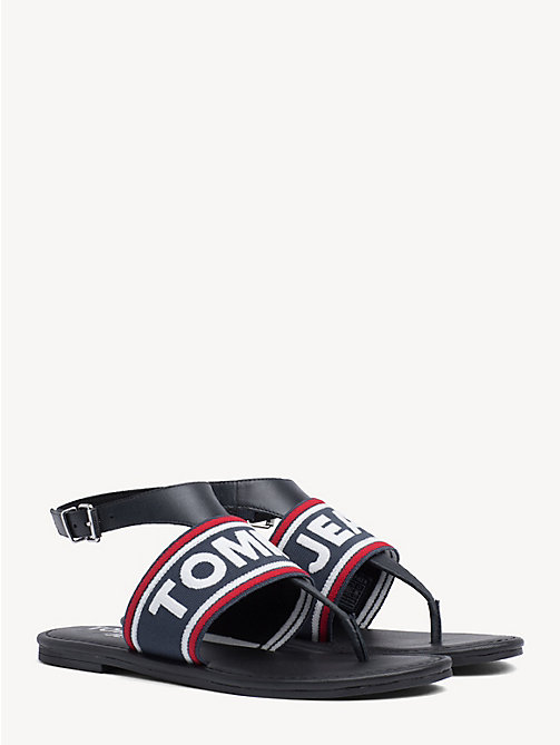 TOMMY JEANS Webbing Logo Flat Sandals - MIDNIGHT - TOMMY JEANS Shoes & Accessories - main image