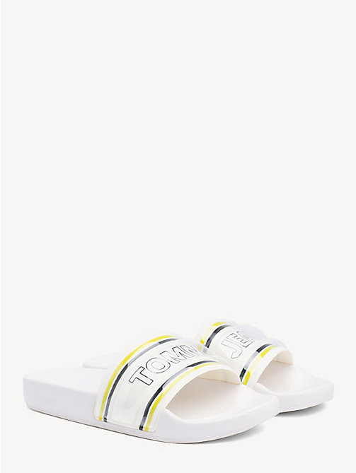 TOMMY JEANS Neon Stripe Tommy Jeans Slides - LIMEADE - TOMMY JEANS Shoes & Accessories - main image