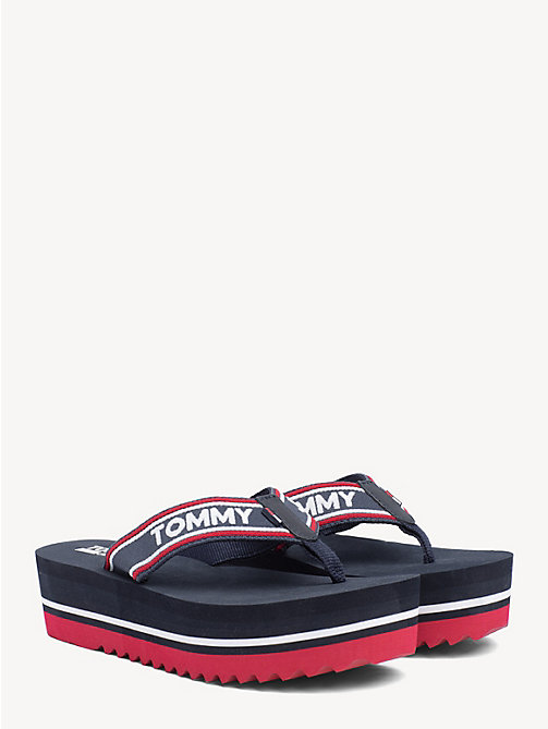 TOMMY JEANS Teenslippers met colour-blocked zool - MIDNIGHT - TOMMY JEANS Schoenen & Accessoires - main image
