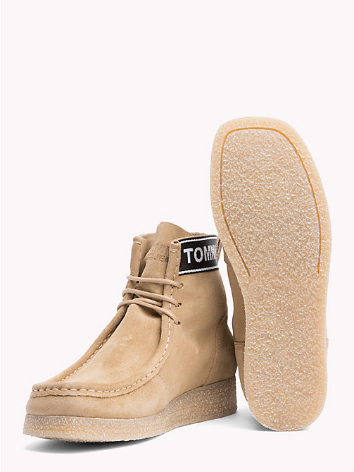 TOMMY JEANS Lace-Up Suede Wallaby Boots - SAND - TOMMY JEANS Shoes & Accessories - detail image 1