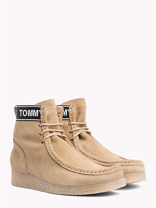 TOMMY JEANS Lace-Up Suede Wallaby Boots - SAND - TOMMY JEANS Shoes & Accessories - main image