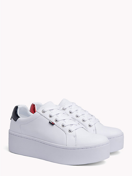 TOMMY JEANS Icon Flatform Trainers - WHITE - TOMMY JEANS Shoes & Accessories - main image