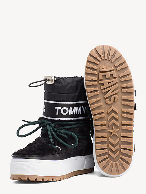 TOMMY JEANS Repeat Logo Snow Boots - BLACK - TOMMY JEANS NEW IN - detail image 1