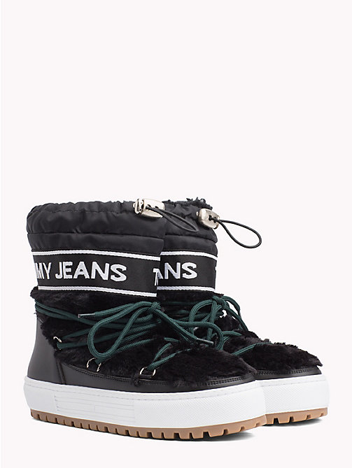 TOMMY JEANS Repeat Logo Snow Boots - BLACK - TOMMY JEANS Shoes & Accessories - main image