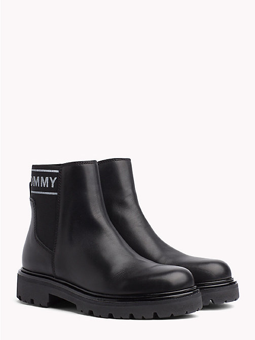 TOMMY JEANS Logo Panel Chelsea Boots - BLACK - TOMMY JEANS NEW IN - main image
