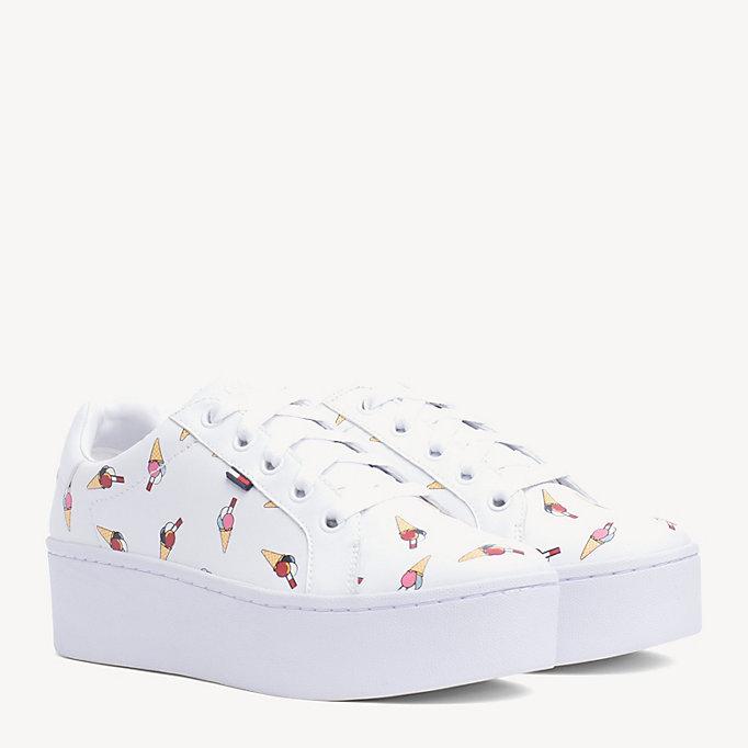 Sneakers in pelle con stampa di gelati  7a4933c3a0a