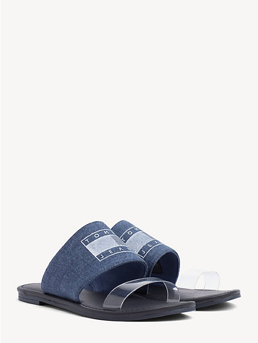 TOMMY JEANS Denim Block Heel Sandals - DENIM - TOMMY JEANS Shoes & Accessories - main image