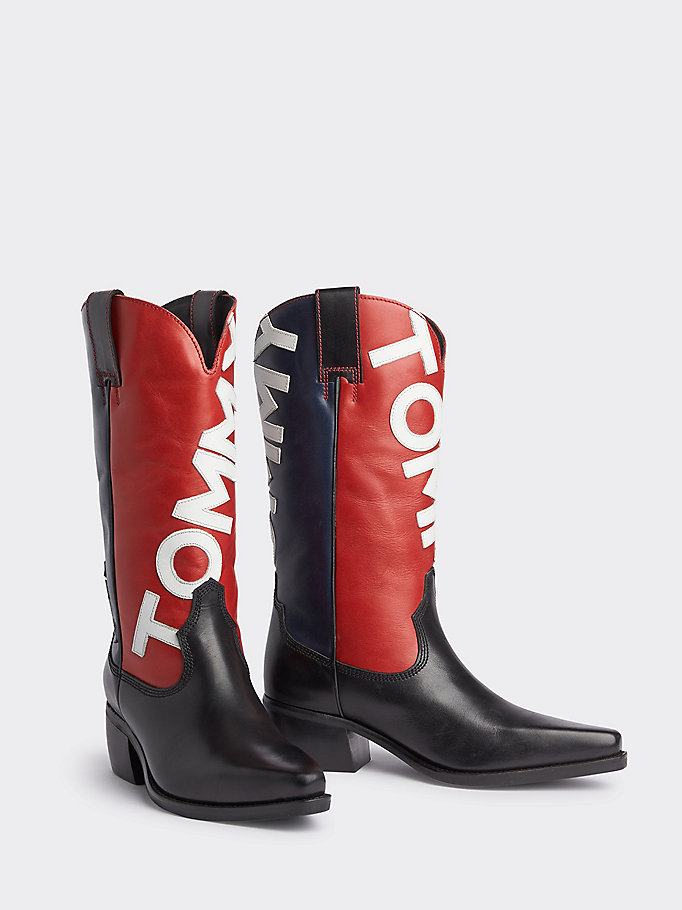 1ce6303759a Heritage Colour-Blocked Cowboy Boots | MIDNIGHT | Tommy Hilfiger