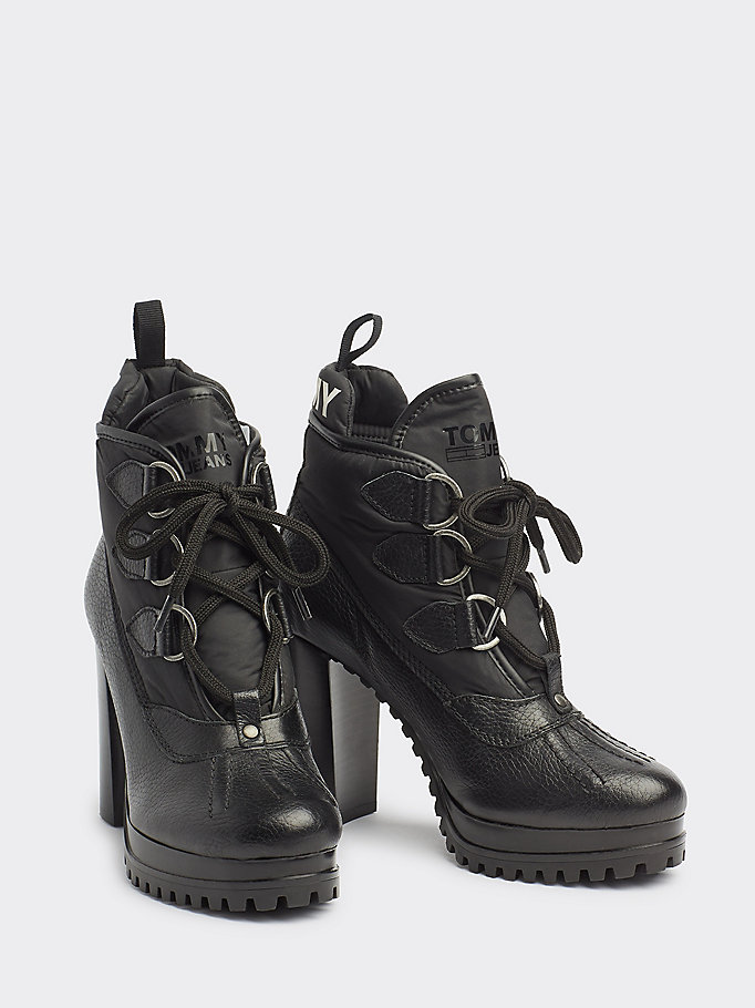 Block Heel Hiking Boots | Tommy Hilfiger | Official Website