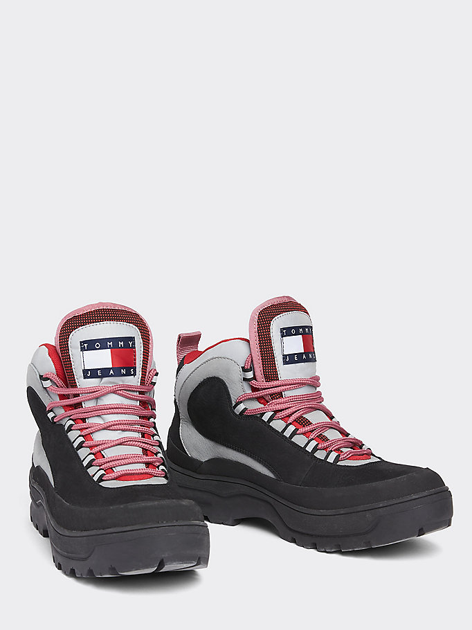 price reduced newest official store Heritage Colour-Blocked Expedition Boots | BLACK | Tommy Hilfiger