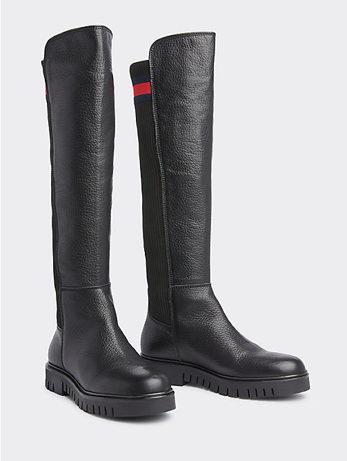 79b6847ee8e2 stivali in pelle black da donna tommy jeans