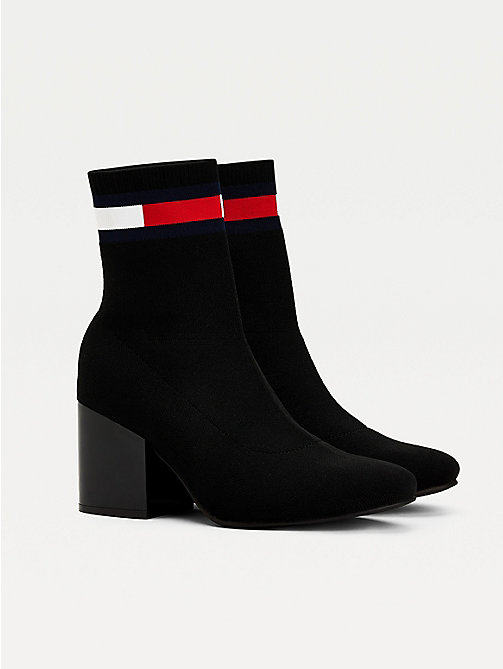 62895b09 black flag heeled sock boots for women tommy jeans
