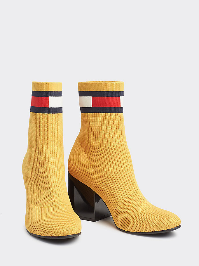 861ae68e19f Flag Heeled Sock Boots | GOLDEN GLOW | Tommy Hilfiger