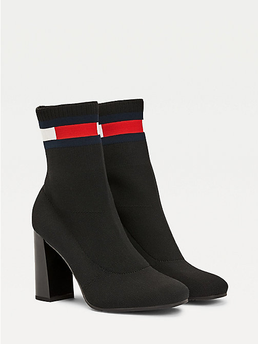 c905e9673edb black sock heel boots for women tommy jeans
