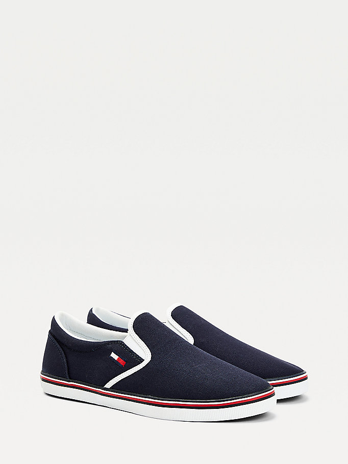 blau essential slipper-sneaker für women - tommy jeans