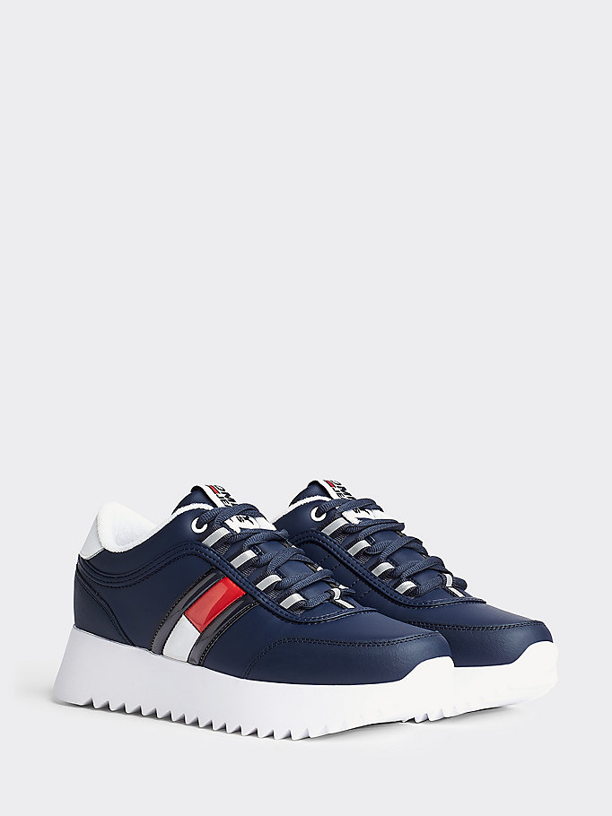 Colour Blocked Cleated Trainers | BLUE | Tommy Hilfiger