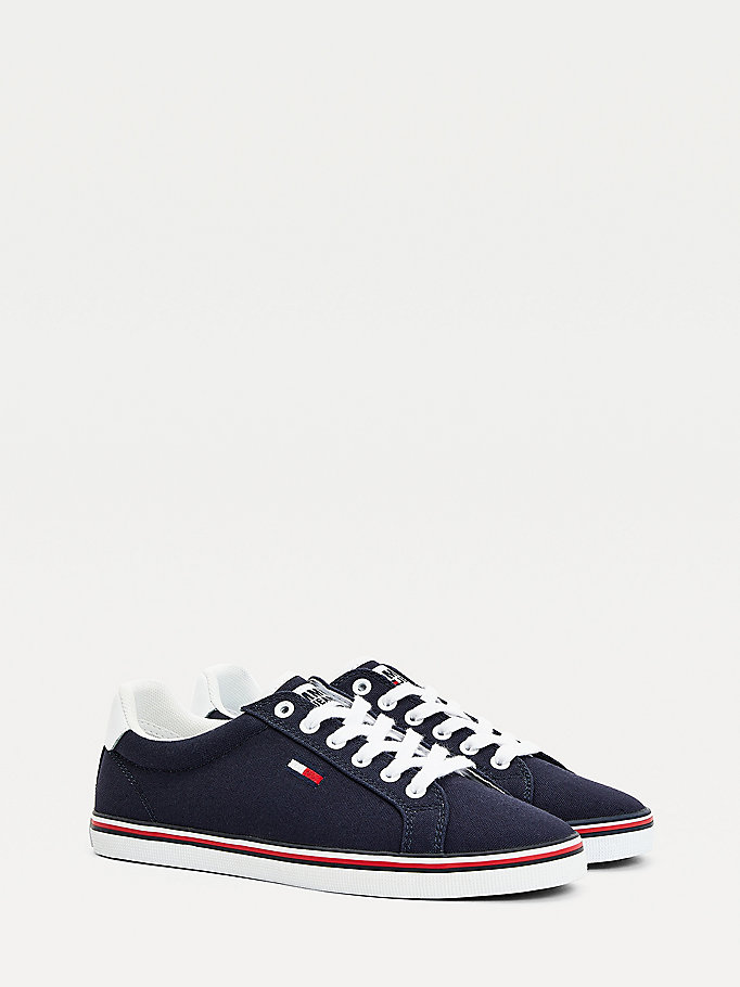 blue essential low-top trainers for women tommy jeans