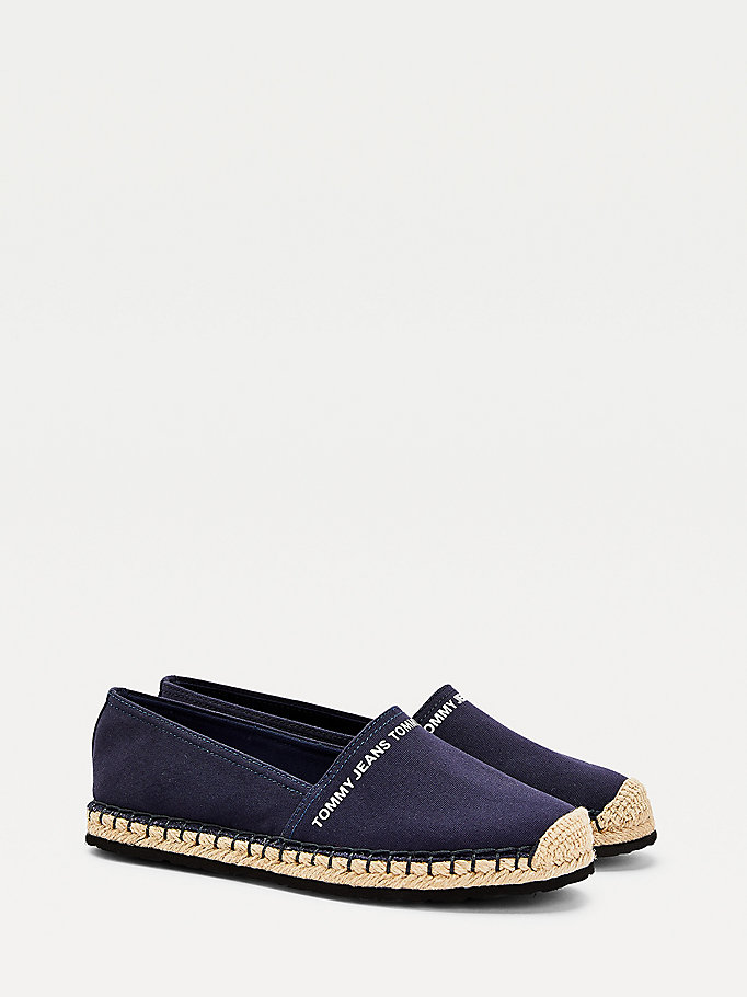 blue essential logo espadrilles for women tommy jeans