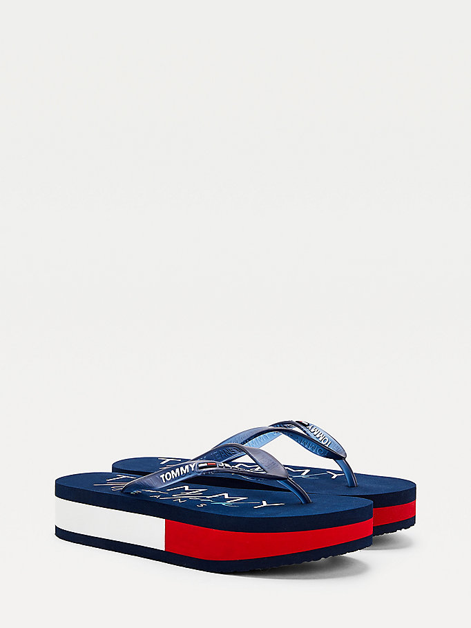 blue platform sandals for women tommy jeans
