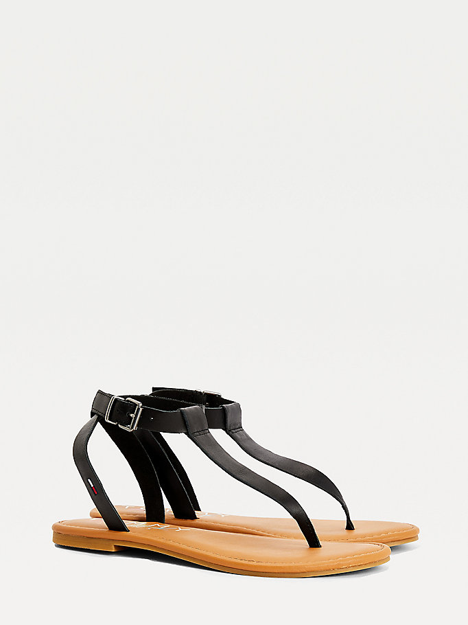 black essential thong sandals for women tommy jeans