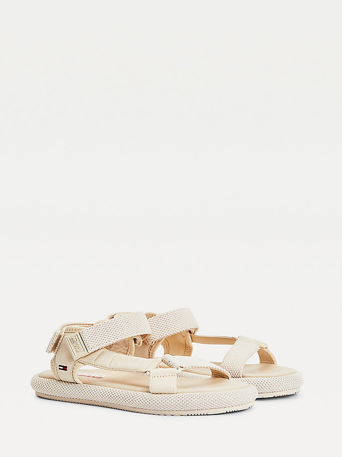 beige textured sole sandals for women tommy jeans