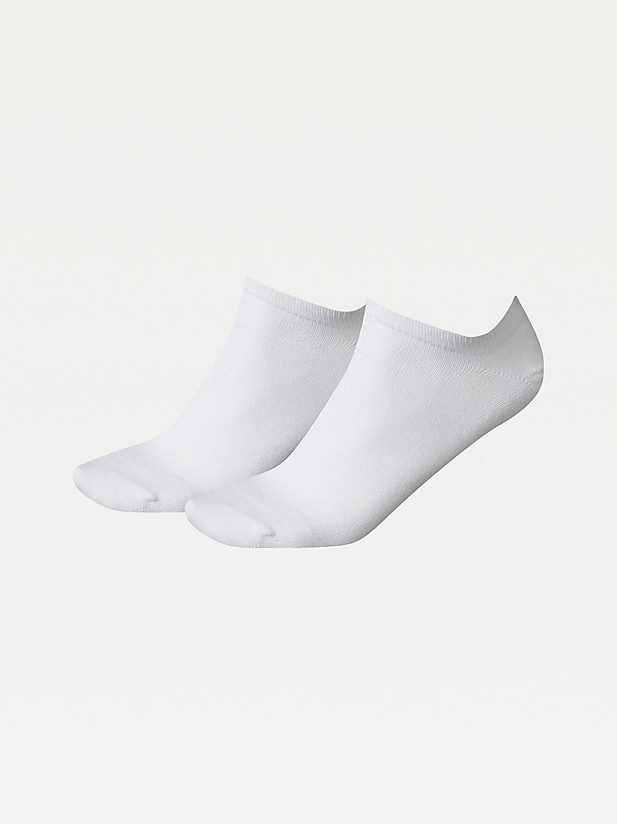 white 2-pack trainer socks for women tommy hilfiger
