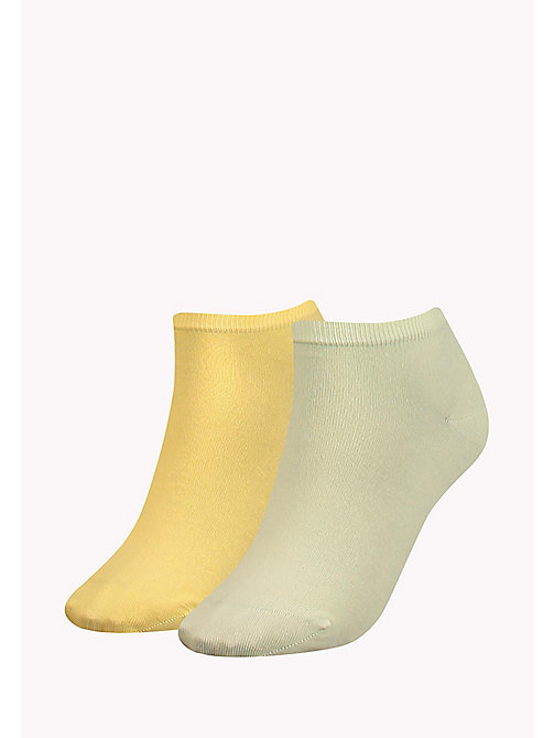TOMMY HILFIGER 2-Pack Pastel Trainer Socks - SUNSHINE - TOMMY HILFIGER Socks & Hosiery - main image