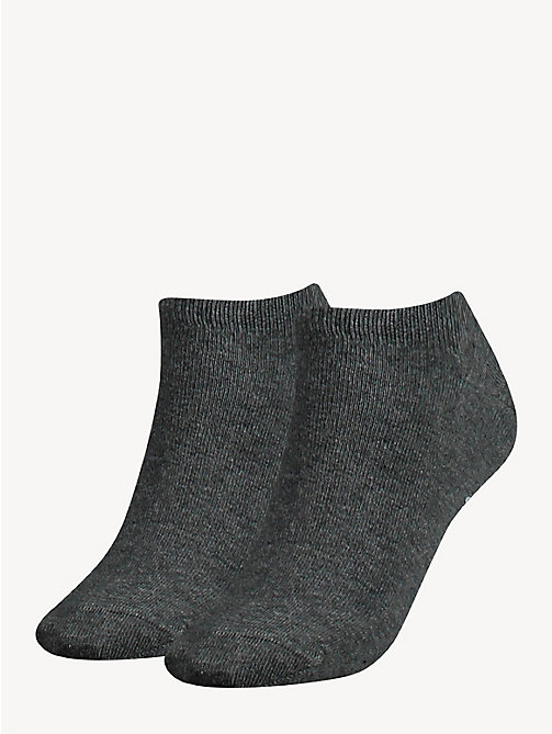 TOMMY HILFIGER 2-Pack Pastel Trainer Socks - MIDDLE GREY MELANGE - TOMMY HILFIGER Socks & Hosiery - main image