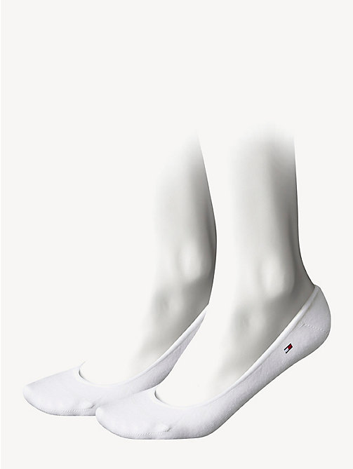 TOMMY HILFIGER 2-Pack Invisible Footies - WHITE - TOMMY HILFIGER Socks & Hosiery - main image