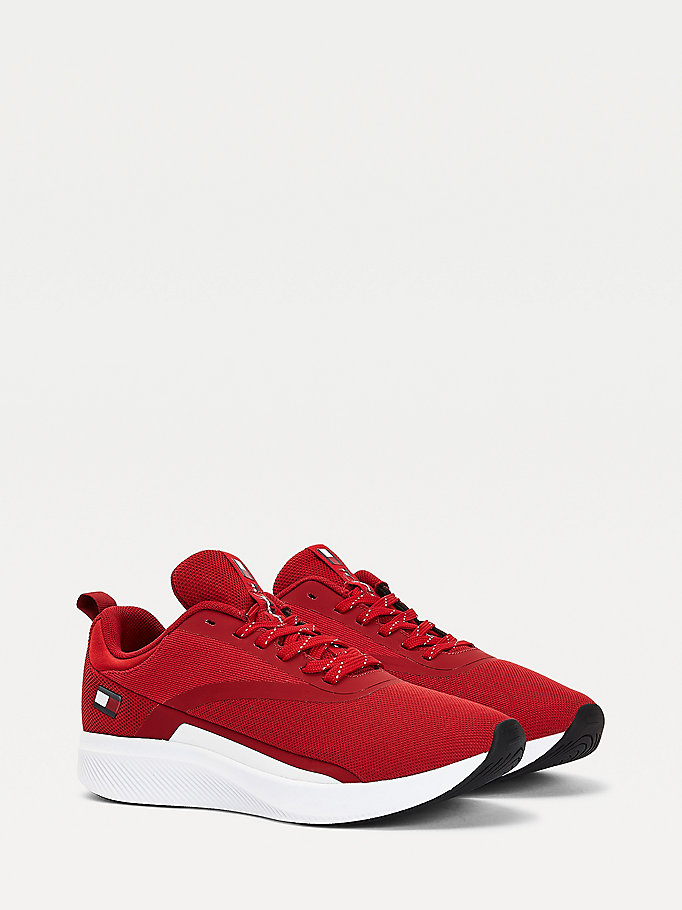 Buty Sportowe Z Flaga Czerwony Tommy Hilfiger