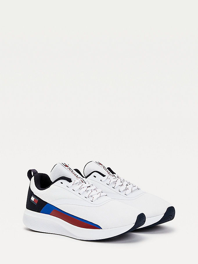 white flag trainers for men tommy sport