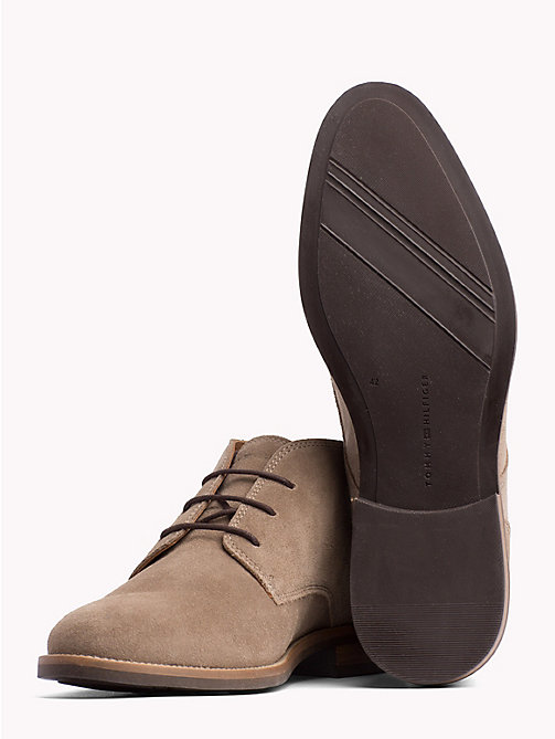 TOMMY HILFIGER Classic Suede Lace-Up Boots - TAUPE GREY - TOMMY HILFIGER Lace-Up Boots - detail image 1