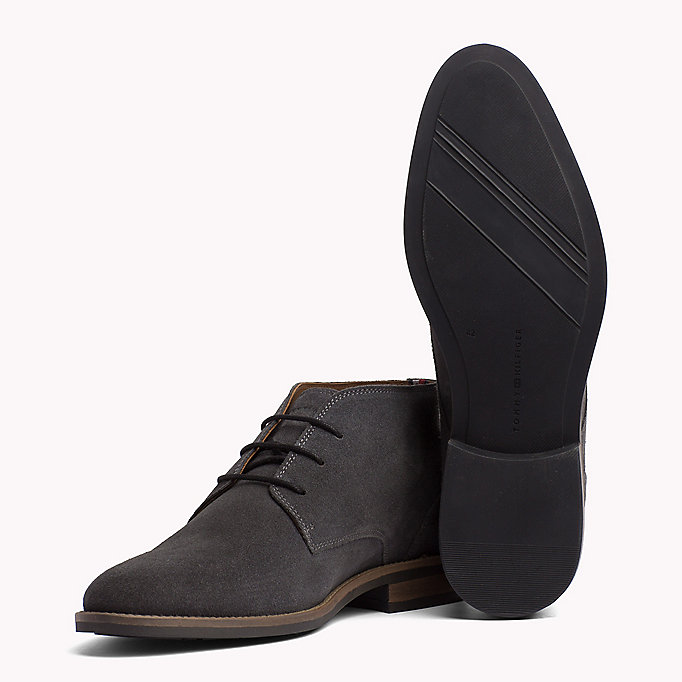 TOMMY HILFIGER Suede Ankle Boots - MIDNIGHT - TOMMY HILFIGER Men - detail image 1