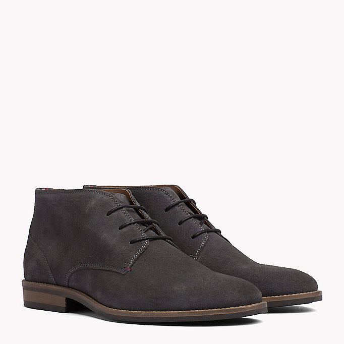 TOMMY HILFIGER Suede Ankle Boots - MIDNIGHT - TOMMY HILFIGER Men - main image
