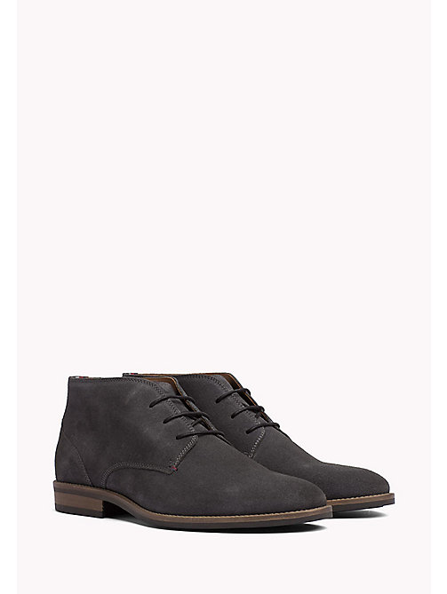 TOMMY HILFIGER Suede Ankle Boots - CHARCOAL -  Lace-Up Boots - main image