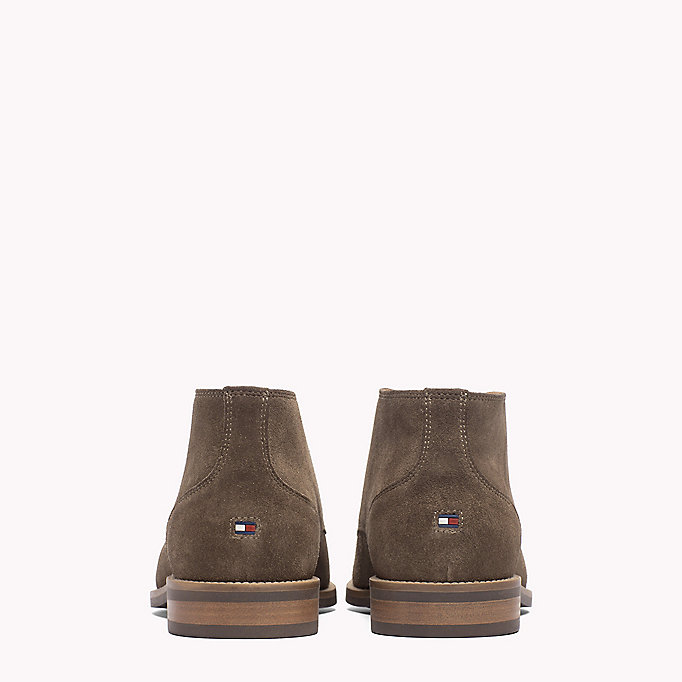 TOMMY HILFIGER Suede Ankle Boots - COFFEE BEAN - TOMMY HILFIGER Men - detail image 2