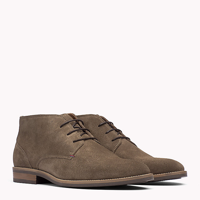 TOMMY HILFIGER Suede Ankle Boots - COFFEE BEAN - TOMMY HILFIGER Men - main image