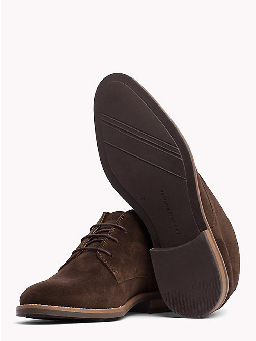 TOMMY HILFIGER Classic Suede Lace-Up Boots - COFFEE BEAN -  Shoes - detail image 1
