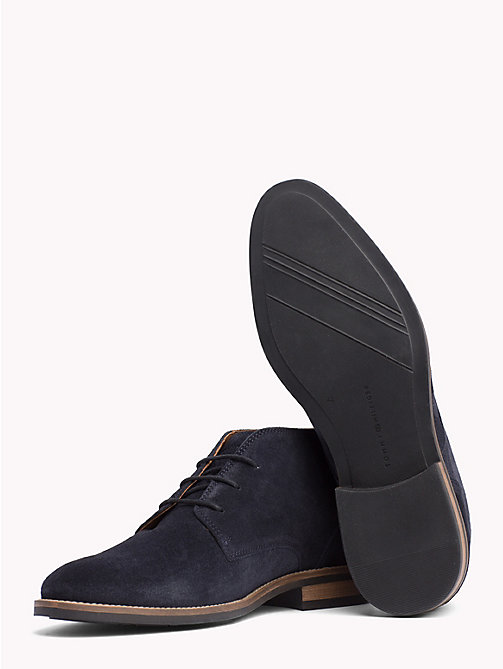 TOMMY HILFIGER Classic Suede Lace-Up Boots - MIDNIGHT - TOMMY HILFIGER Best Sellers - detail image 1