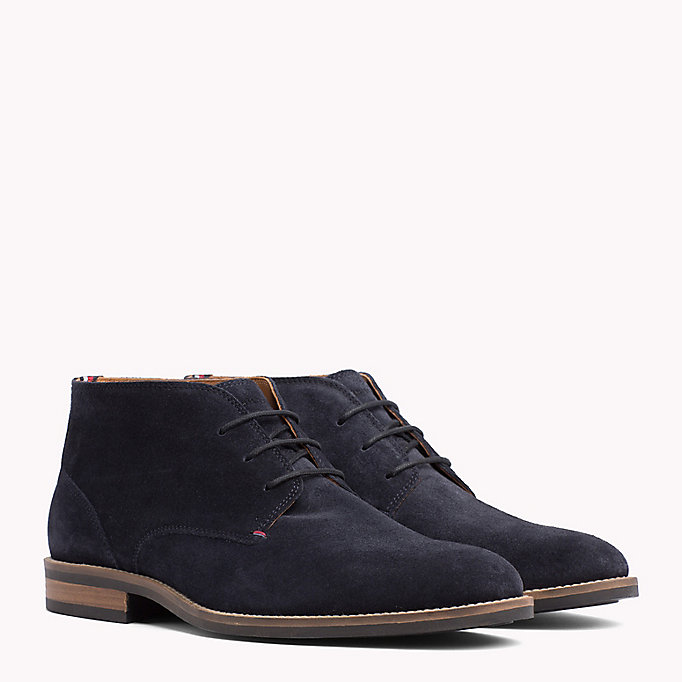 TOMMY HILFIGER Suede Ankle Boots - WINTER COGNAC - TOMMY HILFIGER Men - main image
