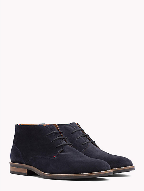 TOMMY HILFIGER Bottines en daim - MIDNIGHT - TOMMY HILFIGER Bottines à lacets - image principale