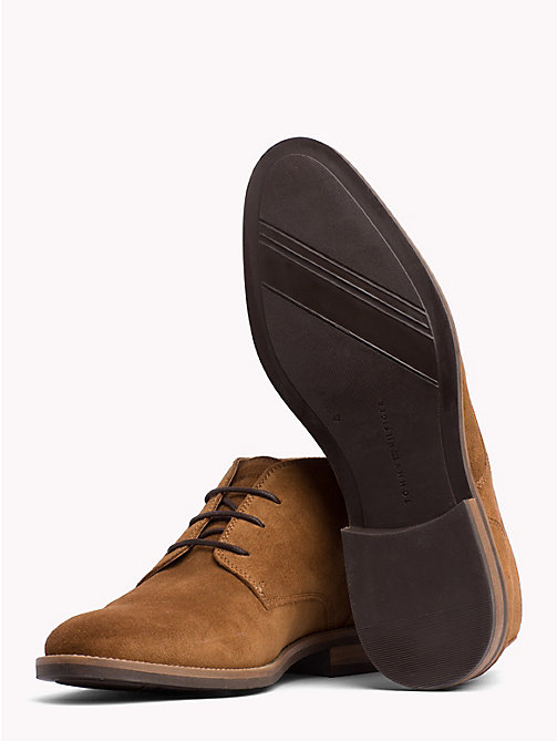 TOMMY HILFIGER Classic Suede Lace-Up Boots - WINTER COGNAC - TOMMY HILFIGER Best Sellers - detail image 1
