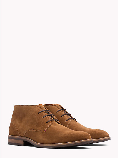 TOMMY HILFIGER Classic Suede Lace-Up Boots - WINTER COGNAC - TOMMY HILFIGER Lace-Up Boots - main image
