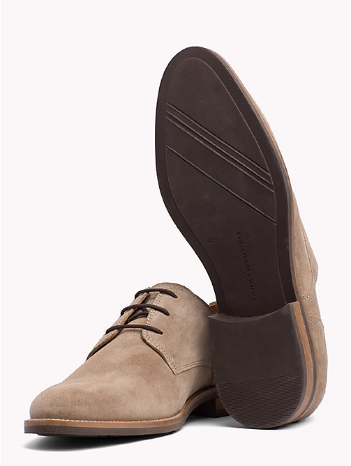 TOMMY HILFIGER Suede Derby Shoes - TAUPE GREY - TOMMY HILFIGER Lace-up Shoes - detail image 1