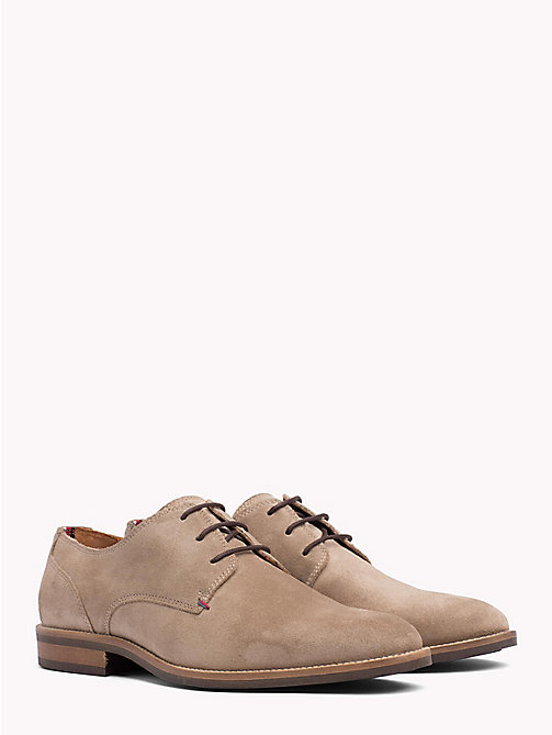TOMMY HILFIGER Suede Derby Shoes - TAUPE GREY - TOMMY HILFIGER Shoes - main image