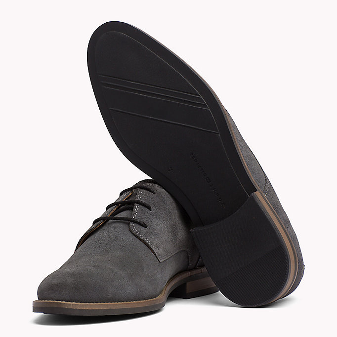TOMMY HILFIGER Suede Derby Shoes - MIDNIGHT - TOMMY HILFIGER Heren - detail image 1