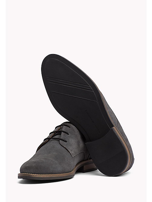 TOMMY HILFIGER Suede Derby Shoes - CHARCOAL - TOMMY HILFIGER Lace-up Shoes - dettaglio immagine 1