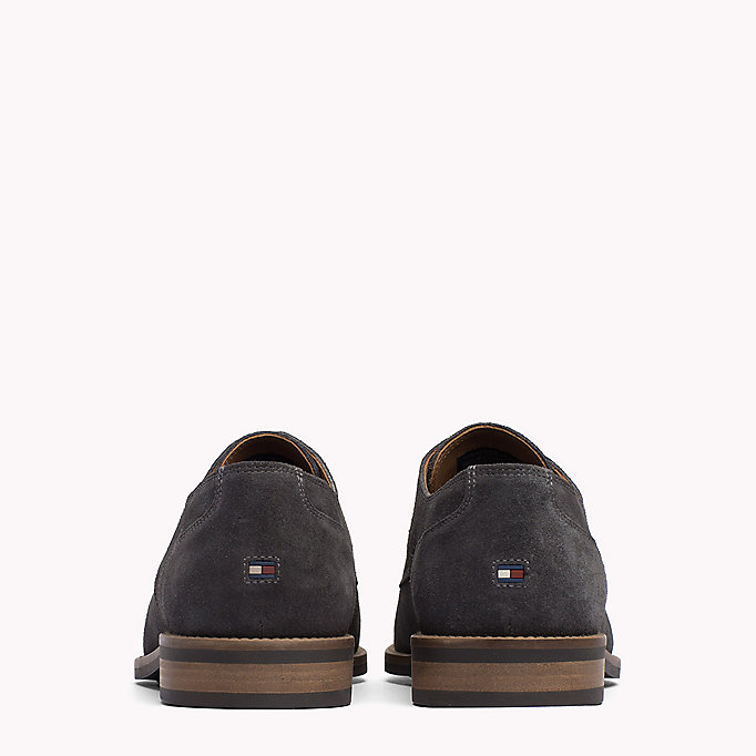 TOMMY HILFIGER Suede Derby Shoes - MIDNIGHT - TOMMY HILFIGER Heren - detail image 2