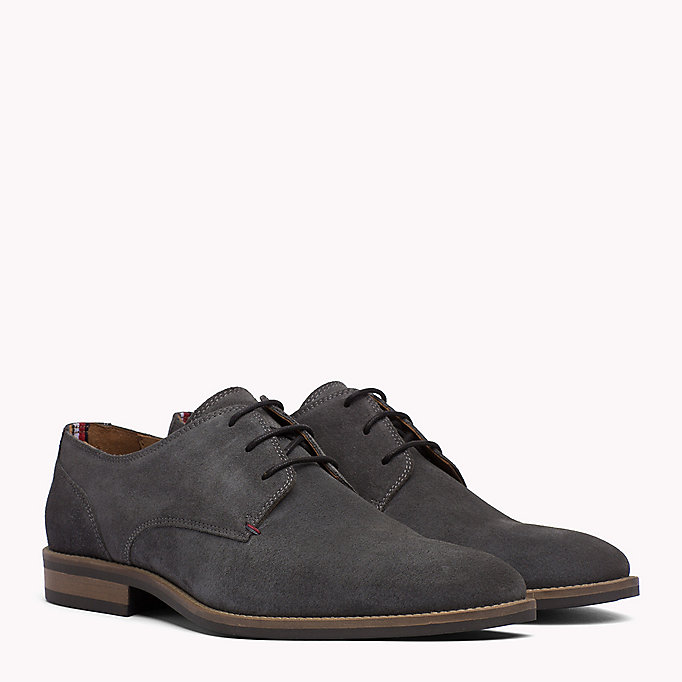 TOMMY HILFIGER Suede Derby Shoes - MIDNIGHT - TOMMY HILFIGER Heren - main image